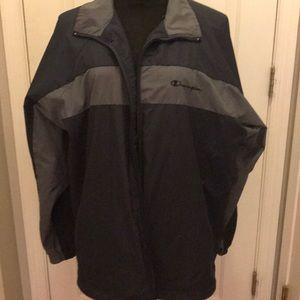 Men's champion wind breaker jacket , size large.